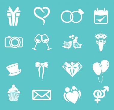Wedding icon set clip art vector