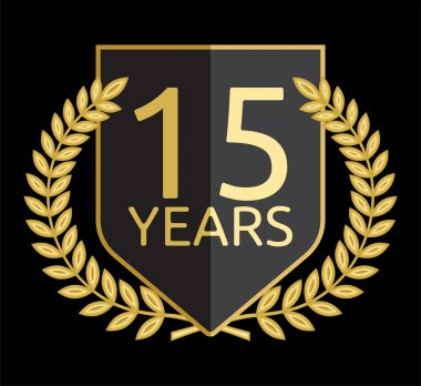 Golden laurel wreath 15 years