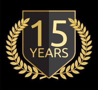 Golden laurel wreath 15 years