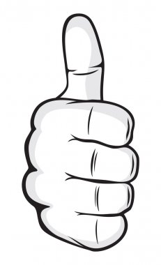 Human hand giving ok (hand showing thumbs up)