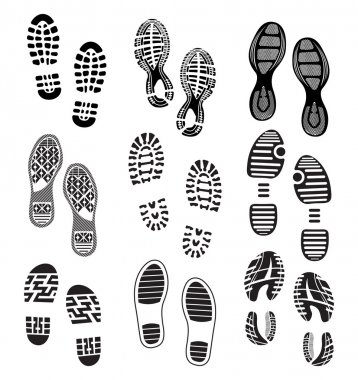 the collection of a imprint soles shoes