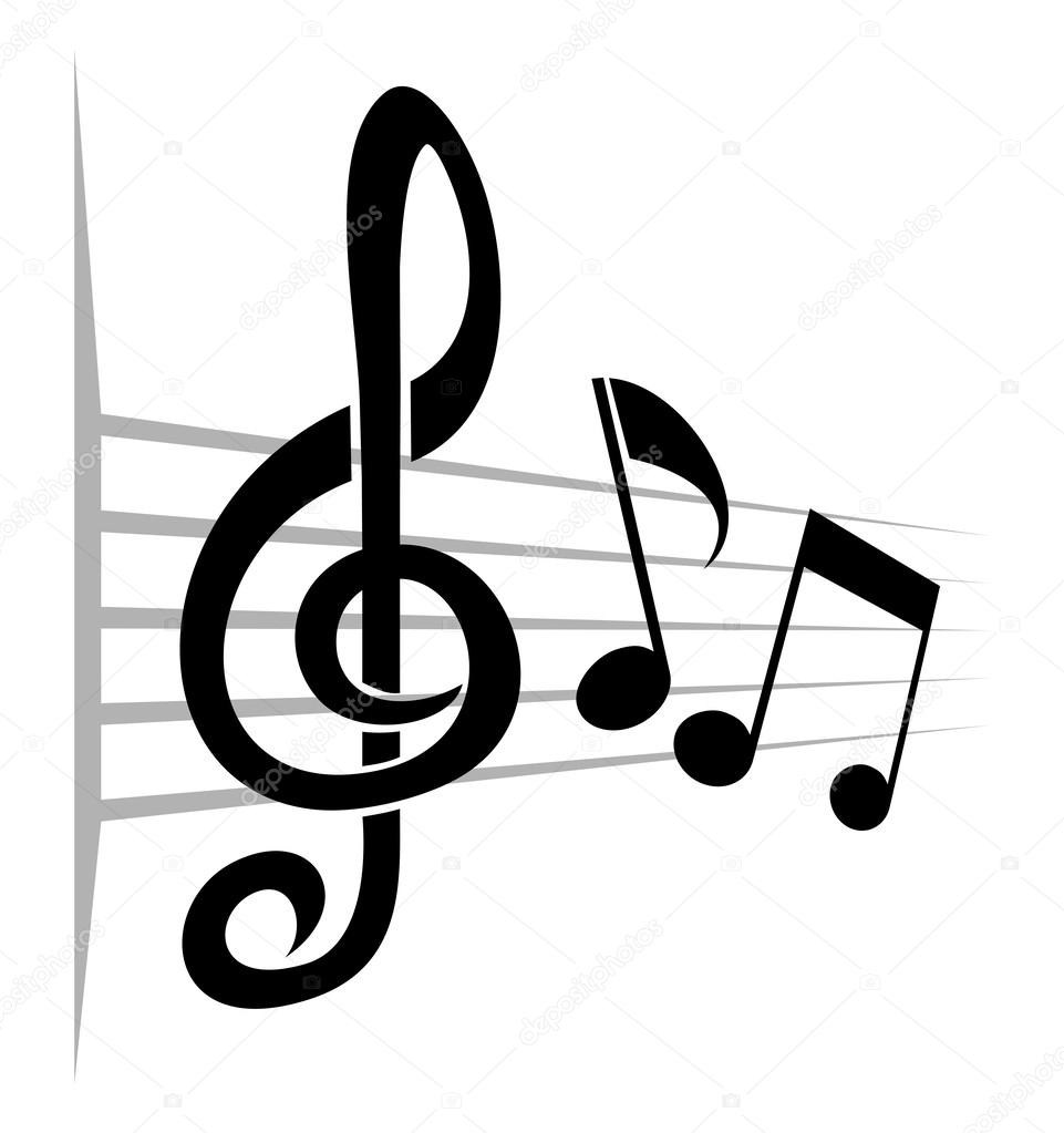 musical background from notes