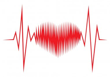 Heart shape ECG line