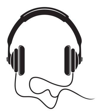 Music headphones icon