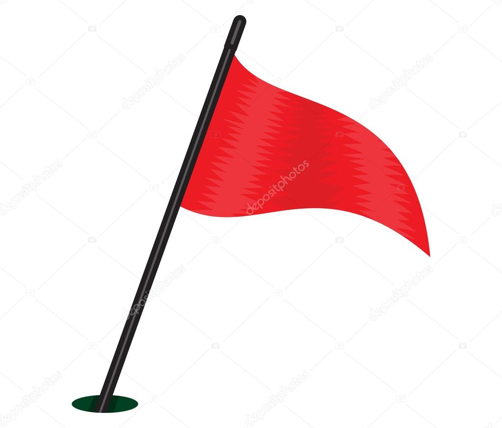 Triangular File 빨간 삼각 깃발 �...