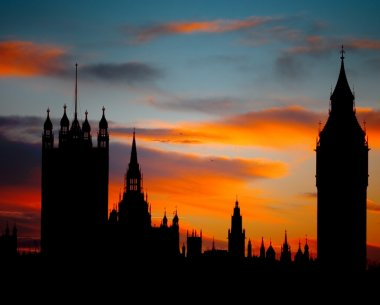 Sunset over Houses of Parliament