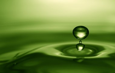 Emerald water drop