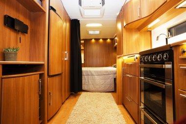 Interior of Luxury Motorhome