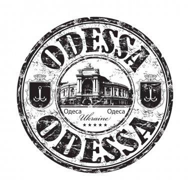 Odessa grunge rubber stamp