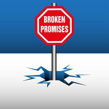 Broken promises plate