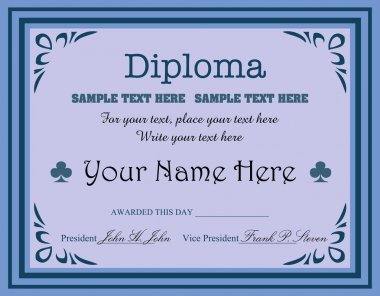 Blue diploma