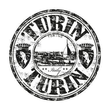 Turin grunge rubber stamp