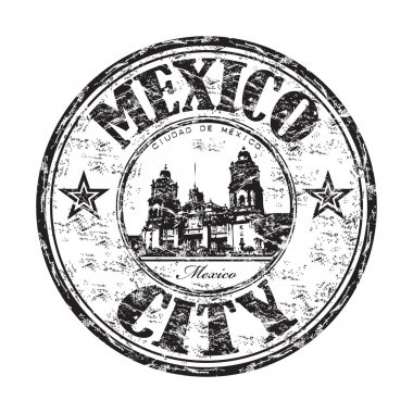 Mexico City grunge rubber stamp