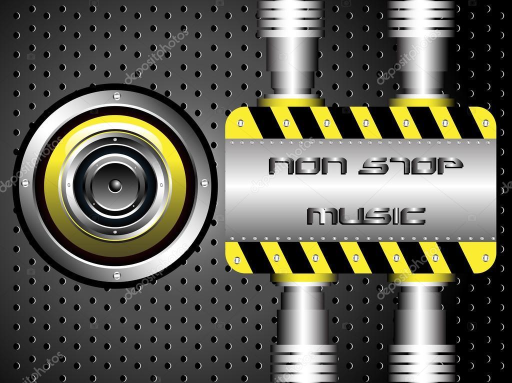Non stop muziek — Stockvector © oxlock #23797351