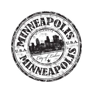 Minneapolis grunge rubber stamp