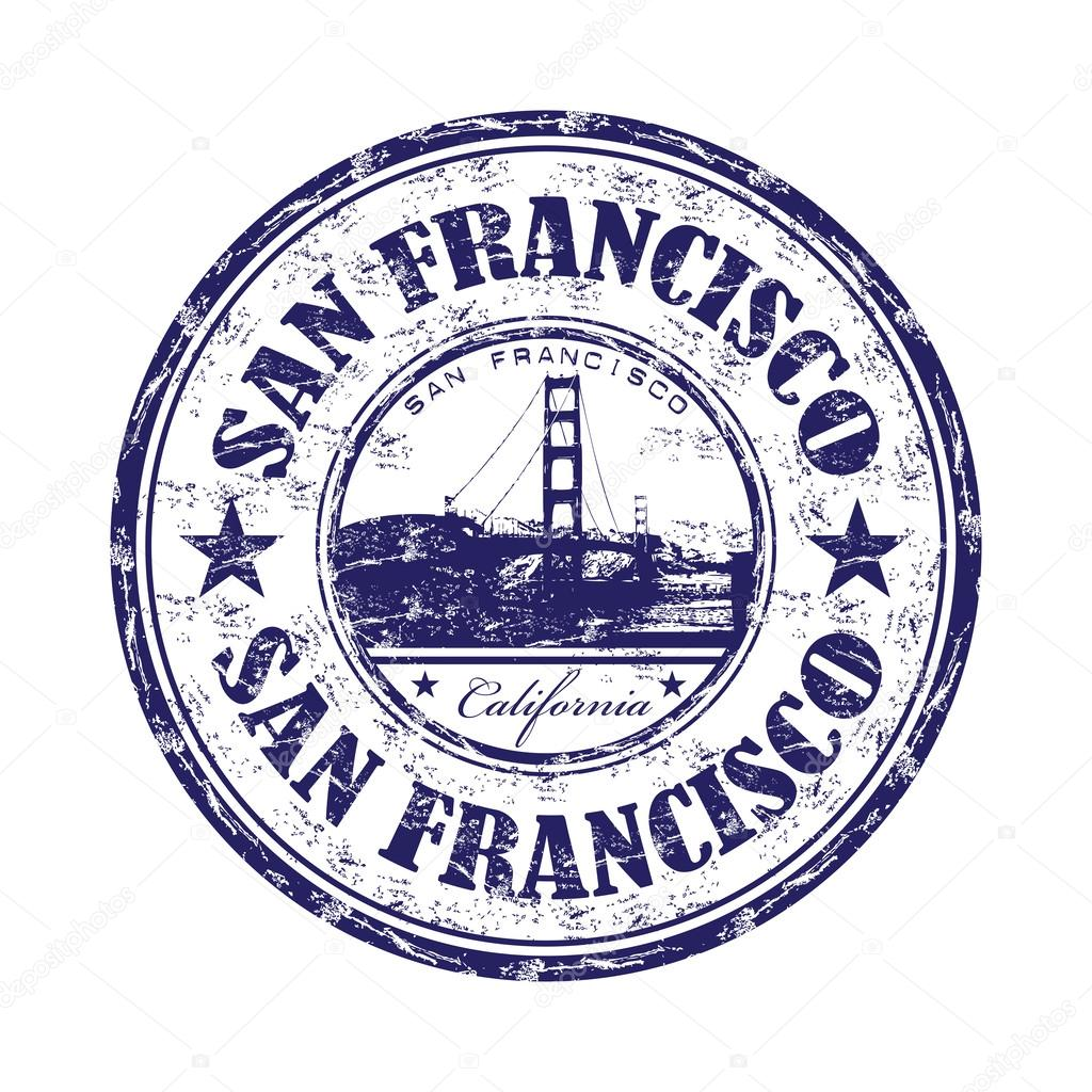 San Francisco Grunge Rubber Stamp Image Vectorielle