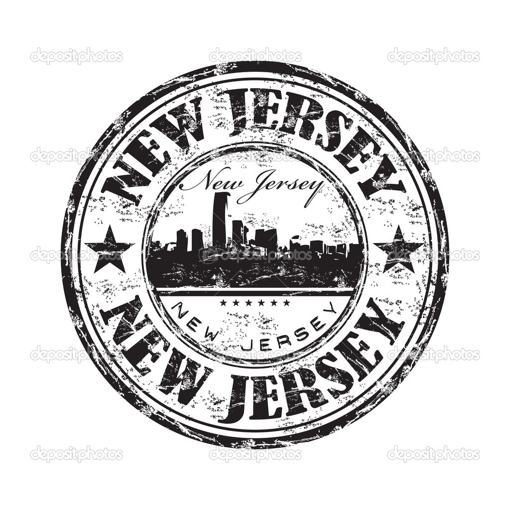 Black Grunge Rubber Stamp With The Name Of State New Jersey Written Inside Vector By Oxlock