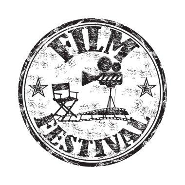 Film festival grunge rubber stamp