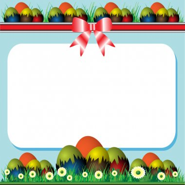 Easter frame with eggs