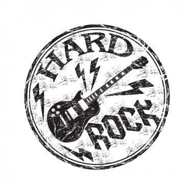 Hard rock grunge rubber stamp