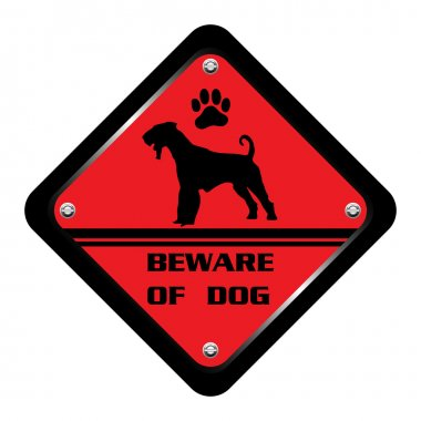 Beware of dog plate