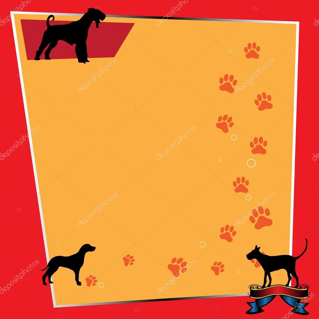 marco con perros — Vector de stock © oxlock #31606367