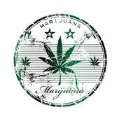 Marihuana-Grunge-Stempel