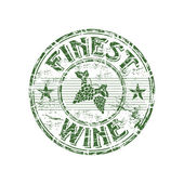 Photo Finest wine grunge rubber stamp