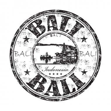 Bali grunge rubber stamp