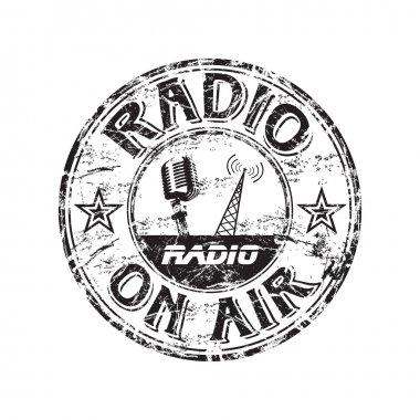 Radio grunge rubber stamp