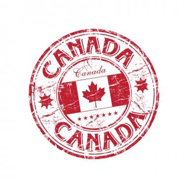 Canada grunge rubber stamp