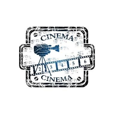 Cinema grunge rubber stamp
