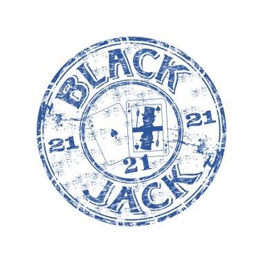 Blackjack rubber stamp