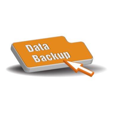 Data backup button