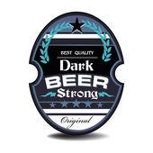 Fotografie tmavé pivo štítek