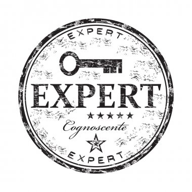 Expert grunge rubber stamp