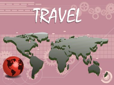 Travel concept with world map