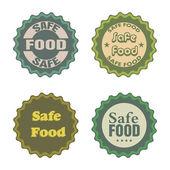 Bezpečné potraviny samolepky
