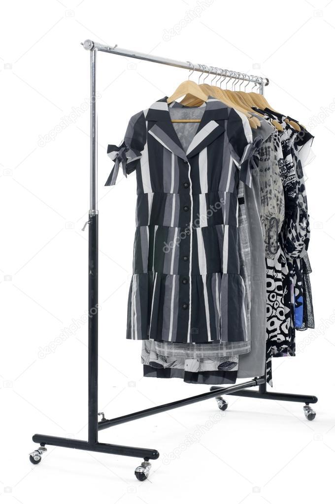 mode kleding rek weergeven — stockfoto © crystalstock #22392571