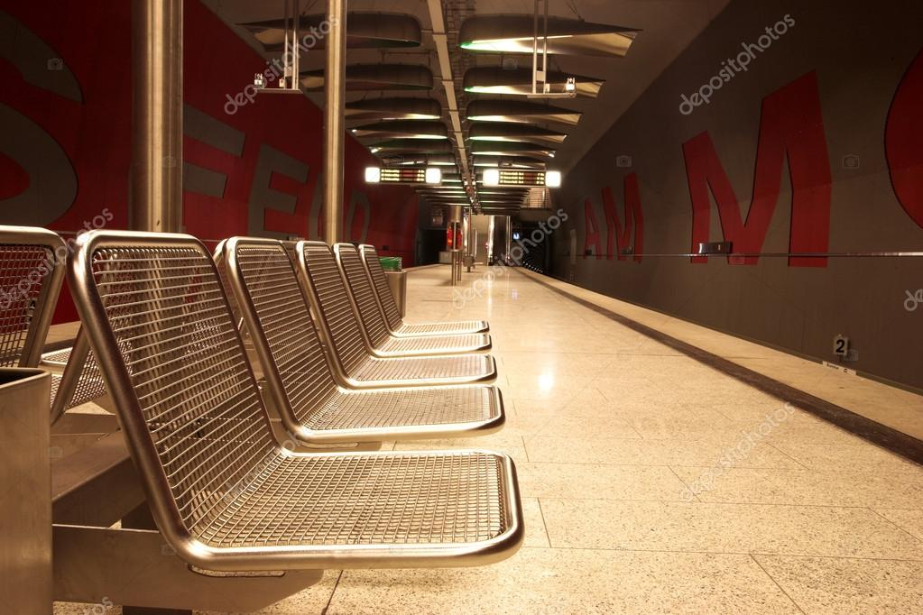 Chairs In A Subway Station. U2014 Photo By Forgiss