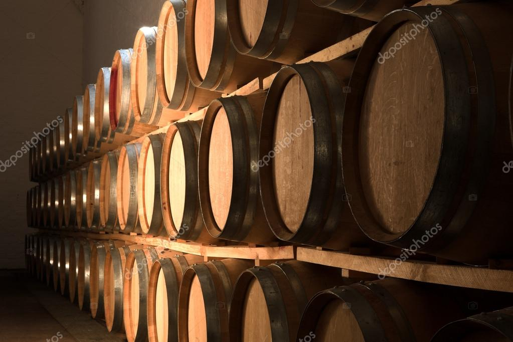 stacked oak barrels. Stacked Oak Barrels \u2014 Stock Photo R