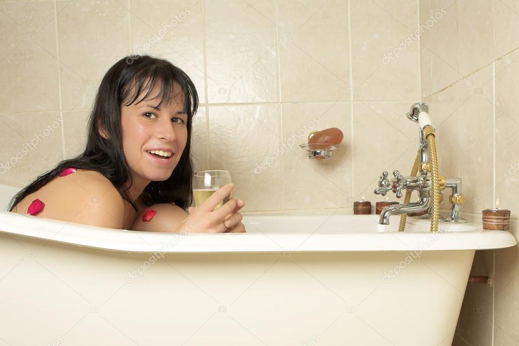 моей ванной в фото женщины