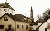 Basilika St. Jakob mit Blick auf die Stadt Straubing