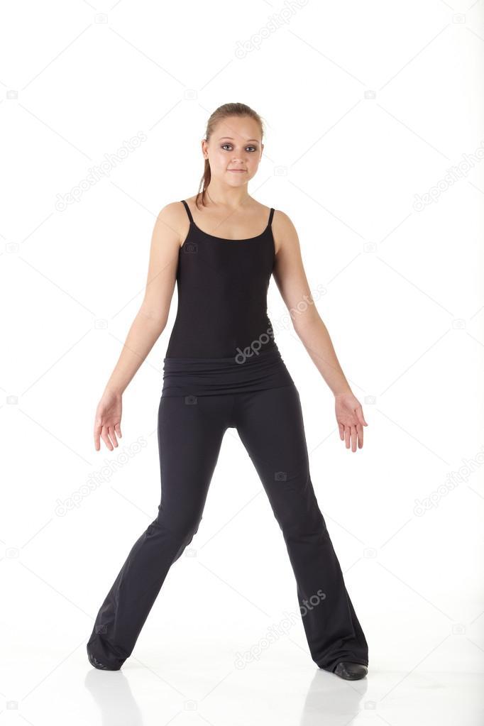 1d84c6ed Młoda tancerka nowoczesny jazz — Zdjęcie stockowe © Forgiss #22129623