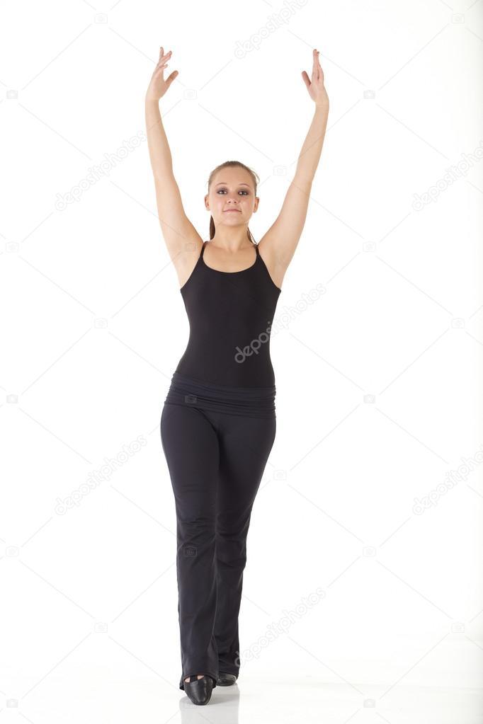 1add64a3 Młoda tancerka nowoczesny jazz — Zdjęcie stockowe © Forgiss #22130441