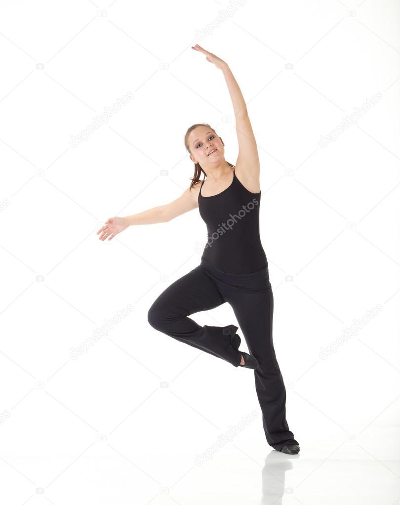 b7b0af50 Młoda tancerka nowoczesny jazz — Zdjęcie stockowe © Forgiss #22130877
