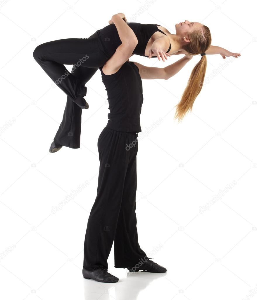 b0ba4948 młody kaukaski nowoczesnego jazzu tancerz — Zdjęcie stockowe ...