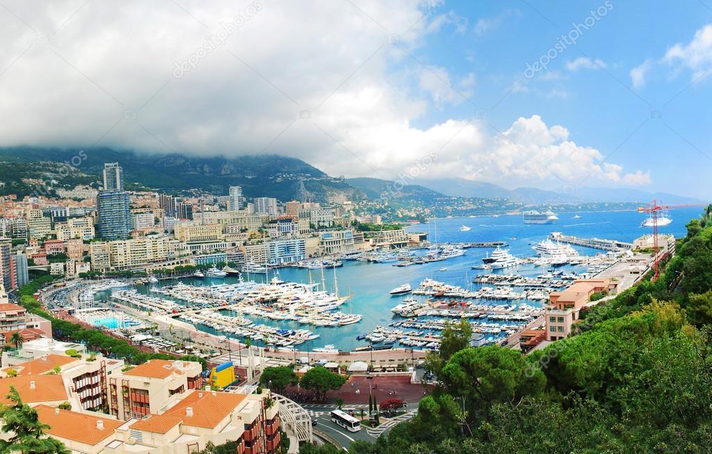 Monte Carlo city panorama.
