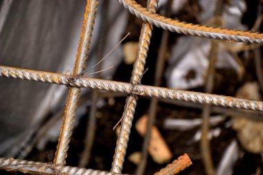 Welded mesh of steel reinforcement