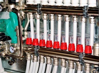 Manifold, collector for heating of a floor